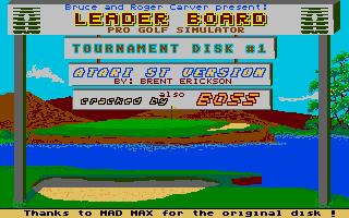 Screenshot of Leaderboard - Tournament Disk 1