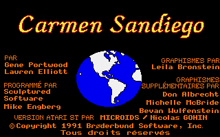 Screenshot of Carmen Sandiego