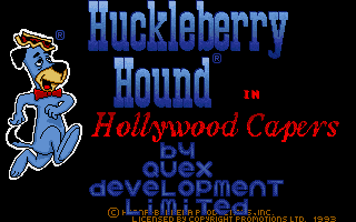Screenshot of Huckleberry Hound In Hollywood Capers