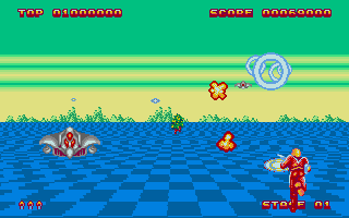 Screenshot of Space Harrier II