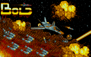 The nice title screen, featuring the fighter from the first version of BOLD.