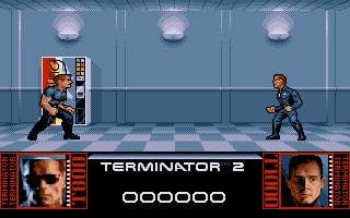 The first level. The fight against the T1000 at the Galeria!
