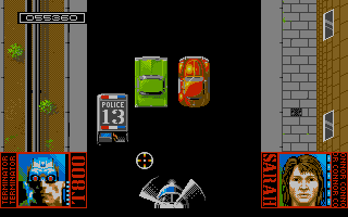 The helicopter chase level. Avoid the traffic, see to it that Sarah doesn't get hit, and bring down that chopper!! Pfeww...