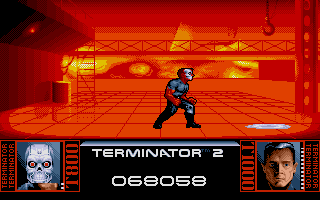 The final confrontation ... It seems our T1000 has a little heating problems ... Cool down man!
