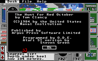 Screenshot of Hunt for Red October, The