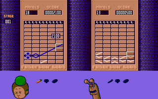 Try making the chain longer than 5 tiles, the tiles are moved to the opponent's screen, making it harder for him.