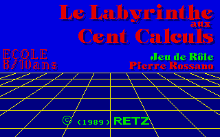 Screenshot of Le Labyrinthe Aux Cent Calculs