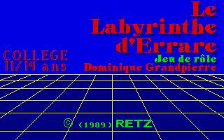 Screenshot of Le Labyrinthe D'Errare