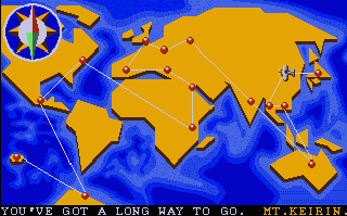 The famous map. I wonder in how many games we have seen this before? Street Fighter 2, Indiana Jones...The list goes on and on.