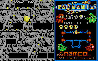 Screenshot of Pacmania