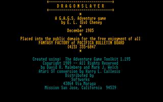 Screenshot of Dragonslayer