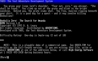 Thumbnail of other screenshot of Unnkulia Zero - The Search for Amanda