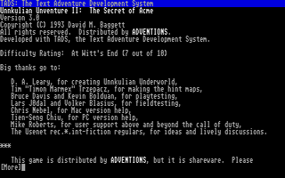 Thumbnail of other screenshot of Unnkulian Unventure II - The Secret of Acme