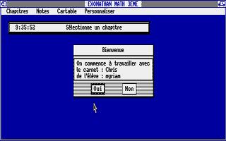 Screenshot of Exonathan Maths 3e