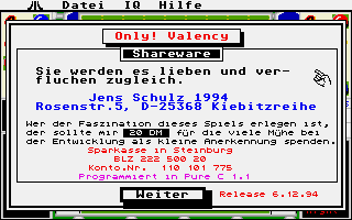 Screenshot of Only! Valency