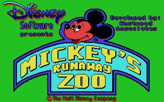 Screenshot of Mickey's Runaway Zoo