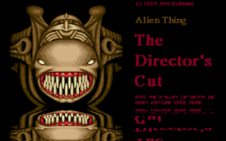 Screenshot of Alien Thing - The Directors Cut
