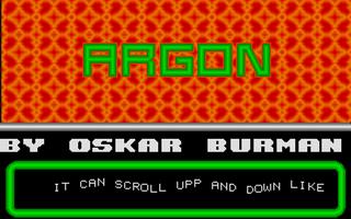 Screenshot of Argon