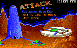 Screenshot of Attack Of The Dangerous Alien Gun Turrets From Jup