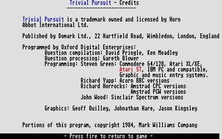 Screenshot of Trivial Pursuit - Genus Edition