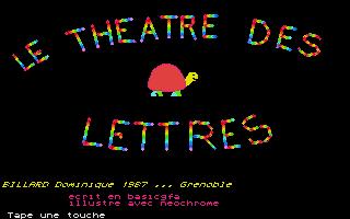 Screenshot of Le Theatre des Lettres