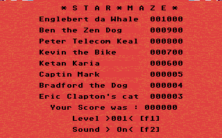 Thumbnail of other screenshot of Star Maze