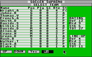 Screenshot of Soccer Supremo
