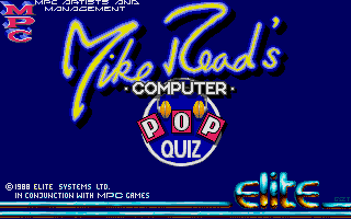 Screenshot of Mike Read's Computer Pop Quiz