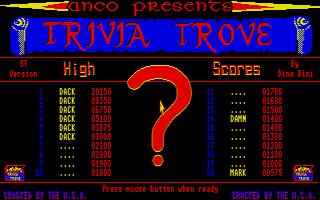 Screenshot of Trivia Trove