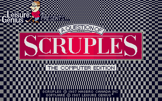 Thumbnail of other screenshot of Question Of Scruples, A - The Computer Edition