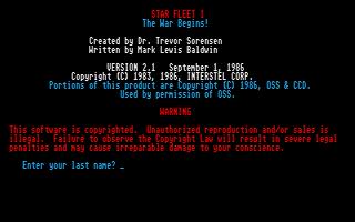 Thumbnail of other screenshot of Star Fleet I - The War Begins