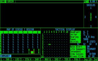Screenshot of Star Fleet I - The War Begins
