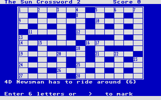 Thumbnail of other screenshot of Sun Computer Crosswords, The - Volume 1