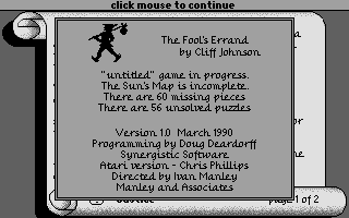 Thumbnail of other screenshot of Fool's Errand, The