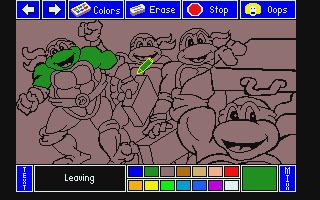 Screenshot of Electric Crayon Deluxe - Teenage Mutant Ninja Turtles World Tour, The