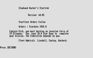 Thumbnail of other screenshot of Slowhand Hacker's Startrek