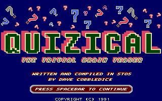 Screenshot of Quizical