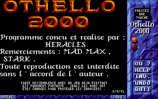 Thumbnail of other screenshot of Othello 2000