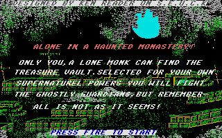 Screenshot of Alone In A Haunted Monastery