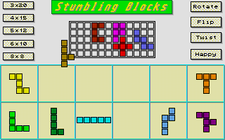 Screenshot of Stumbling Blocks