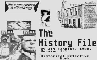 Screenshot of History File, The