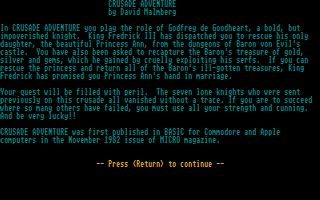 Thumbnail of other screenshot of Crusade Adventure