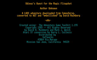 Thumbnail of other screenshot of Odieus's Quest For The Magic Flingshot
