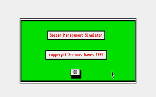 Screenshot of Soccer Management Simulator