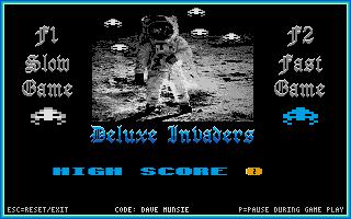 Screenshot of Deluxe Invaders