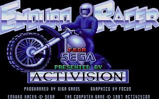 Screenshot of Enduro Racer