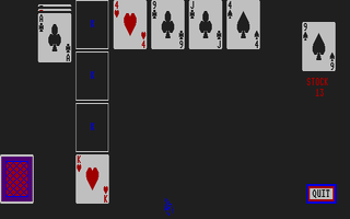 Screenshot of Canfield Solitaire