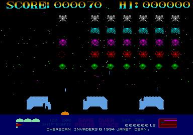 Screenshot of Overscan Invaders