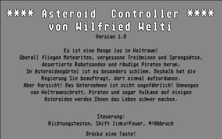 Screenshot of Asteroid Controller