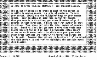 Screenshot of Greed